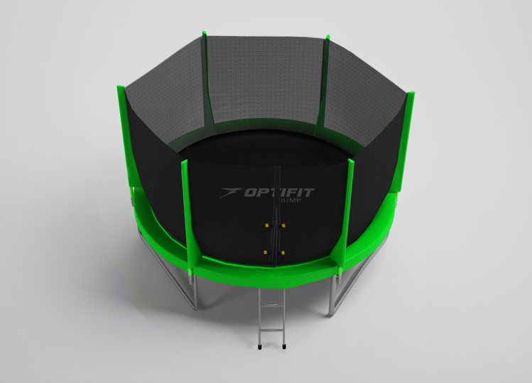 Батут OPTIFIT JUMP 16FT зеленый